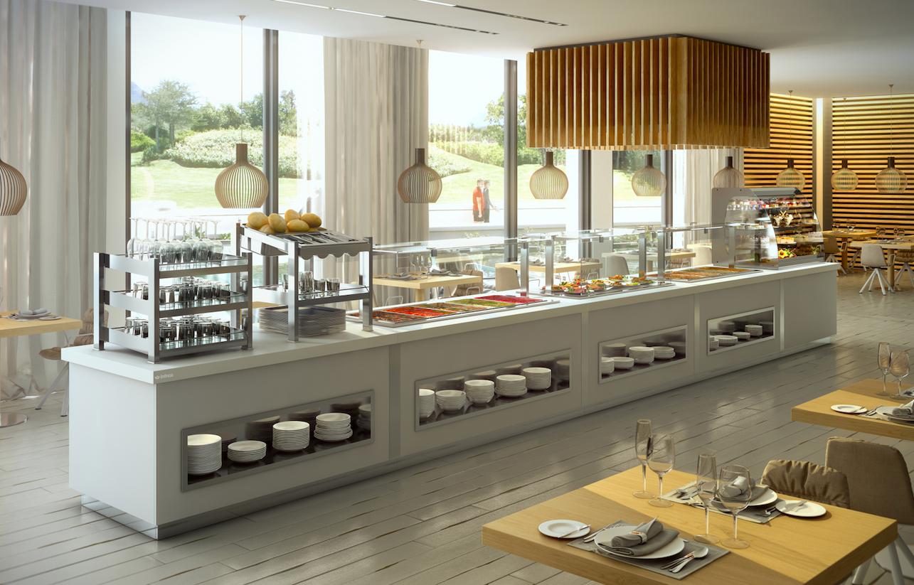 M xima capacidad de adaptaci n y flexibilidad en toda una for Cocina moderna tipo buffet