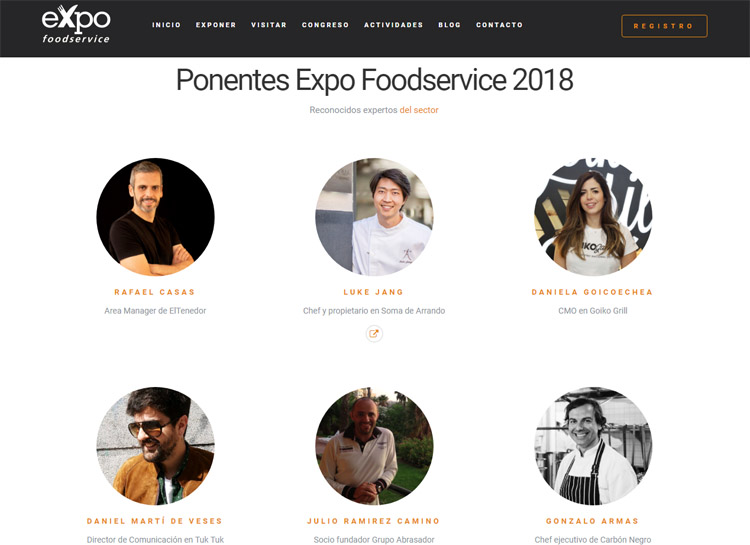 ponentes hostelshow y expo foodservice