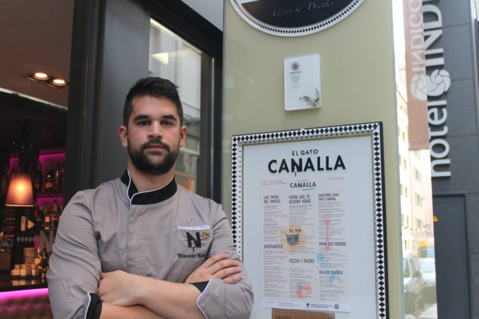 rikardo robles jefe cocina hotel idigo madrid