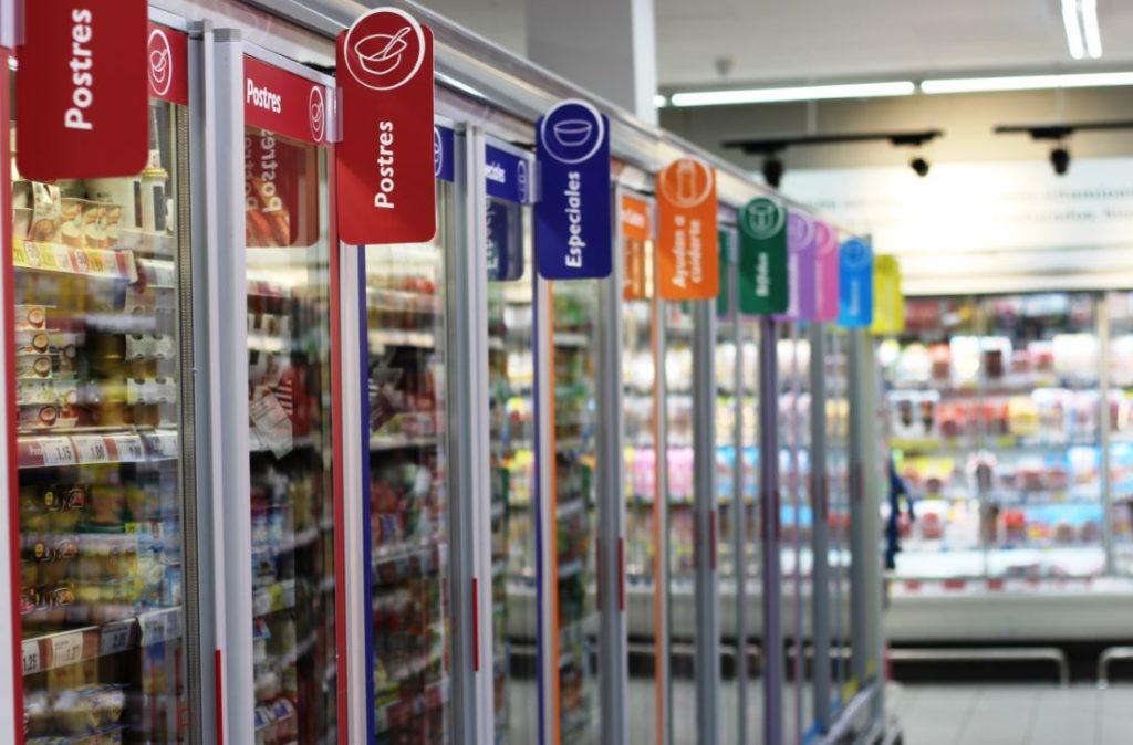 zona de frio supermercado dia