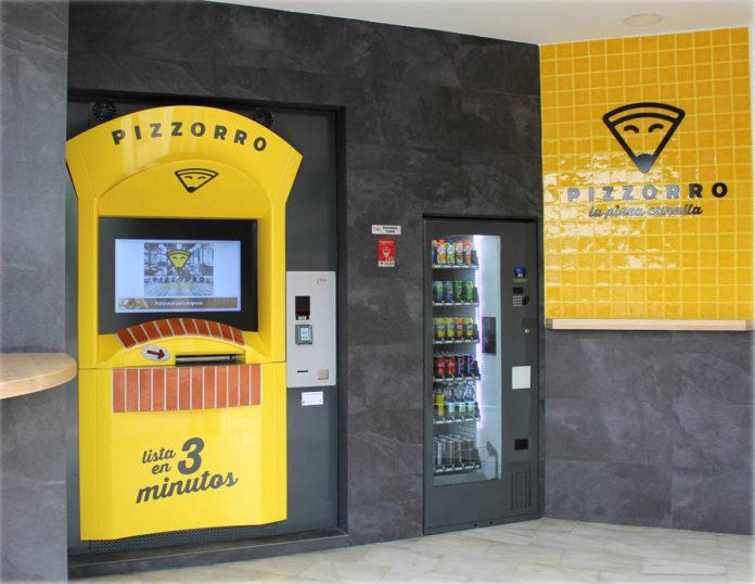 Pizzorro, la primer pizzería automática de España.