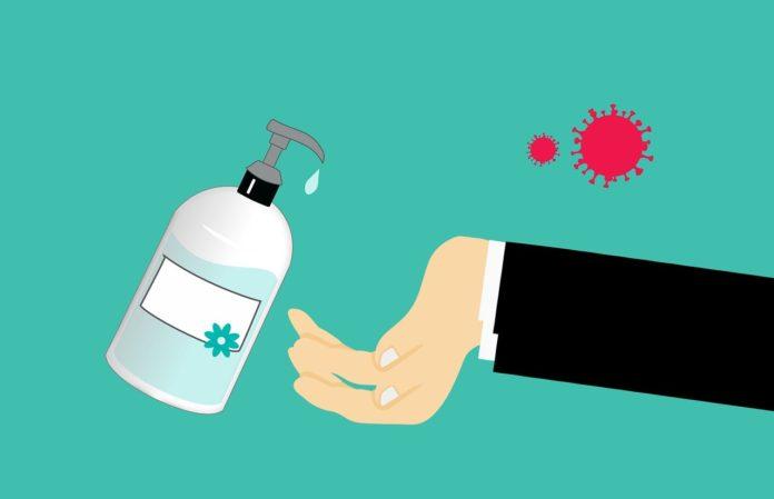 coronavirus higiene gel hidroalcolico