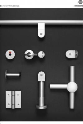 Herrajes de aluminio para cabinas sanitarias for Herrajes para mamparas sanitarias